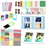 Leebotree Colorful Instant Camera Accessories Bundle Compatible with Fujifilm Instax Mini 11 Instant Film Camera Includes Album/Frame/Stickers (Sky Blue)