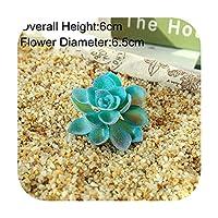 pump-kawayi 青い人工多肉植物植物結婚式の家庭の装飾フラワーアレンジメントアクセサリー盆栽植物PlanteArtificielle -Bao Lian Hua