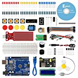 Keywish for Arduino R3 Scratch Starter Kit,Super Base Kit for ATmega328P with 15 Lessons Tutorial Compatible with Arduino IDE Mixly Scratch Mblock Graphical Programming