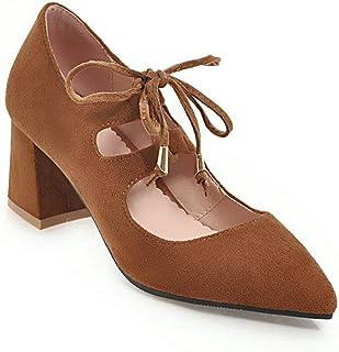 BalaMasa Womens APL11780 Pu Block Heels