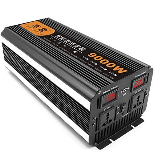 9000W Onda Sinusoidal Pura Inversor de Corriente Power Inverter DC 12V AC 220V, Inversor de Corriente Inversores de Corriente Continua de Alta Eficiencia para Teléfonos Inteligentes,24V/9000W