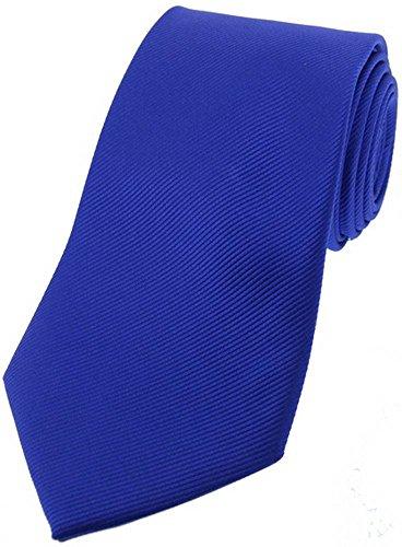 David Van Hagen Cravate bleu royal Diagonal côtelé Soie de