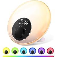 Tekjoy Wake Up Light Sunrise Alarm Clock with FM Radio