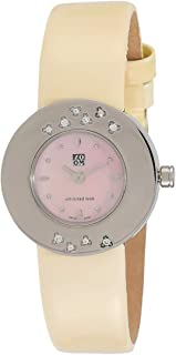 Zoom Classic Women's Pink Dial Leather Band Watch - 607