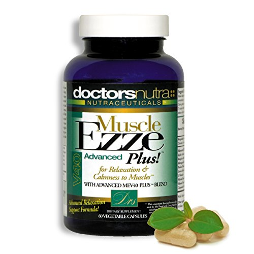 Natural Relaxant Muscle Ezze Plus by Doctors Nutra Nutraceuticals -Supports Muscle Relaxation - Day or Night Use, Naturally Derived Ingredients - Safe and Effective - Gluten-Free - 60 Veg. Capsules