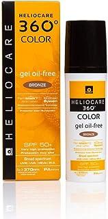 Heliocare 360º Color Gel Oil-Free SPF 50+ - Fotoprotección Avanzada con Color, Textura Ligera, Pieles Mixtas o Grasas, Acabado Mate y Tacto Seco, Bronze, 50ml