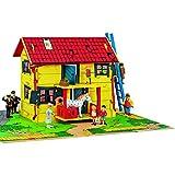 Micki & Friends 44-3753-00 - Pippi Langstrumpf Spielhaus in MDF Puppenhaus Villa Kunterbunt -...