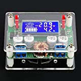 Módulo Buck digital, DC-DC 8-60V a 3-32V Max 7A Módulo de fuente de alimentación reductor ajustable Buck con kit de surtido de componentes electrónicos Shell Módulo Power Buck