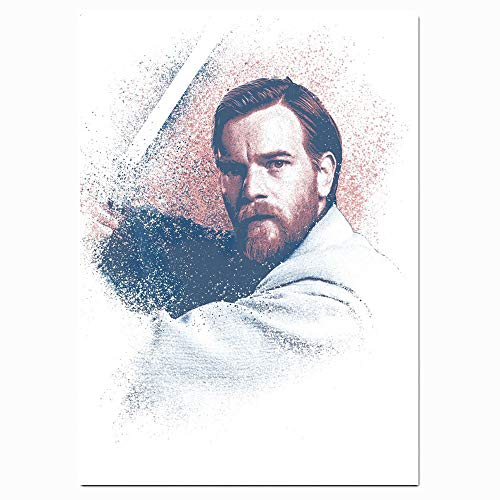 Xicplc Star Wars 3D-Ölgemälde Obi Wan Kenobi Wandbild Scheune Poster Leinwand Wandkunst Höhle Poster Wandkunst 40,6 x 61 cm ungerahmt Kunst, moderne Heimdekoration, ungerahmt