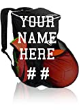 Custom Personalized Soccer Backpack with Ball Holder Compartment - for Kids Youth Boys & Girls | Bag Fits All...