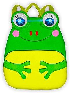 Animales De Granja | Mochila Infantil De Guardería | Mochila con Luces y Sonidos | Mochila Preescolar 3D Divertida Y Interactiva | Bolso De Viaje para Niños Pequeños | (Mochila Rana)
