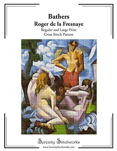 Bathers Cross Stitch Pattern - Roger de la Fresnaye: Regular and Large Print Cross Stitch Chart (English Edition)