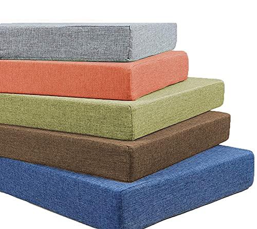 BoruisX - Cuscino per panca da 2 3 a 4 posti, per interni ed esterni, 90/100/120/140/150/160/180/200 cm, lavabile (160 x 40 x 5 cm, colore: grigio