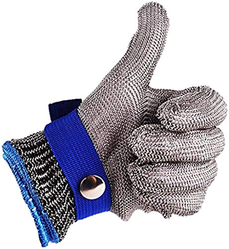 Safety Work Gloves Stab Resistant 316 Stainless Steel...