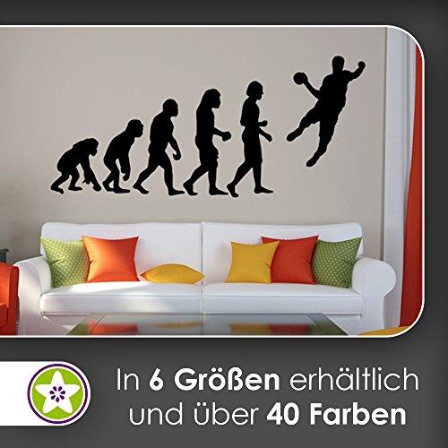 hauptsachebeklebt KIWISTAR Evolution - Handball Ballsport Verein Olympia Wandtattoo in 6 Größen - Wandaufkleber Wall Sticker