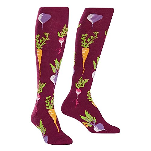 Sock It To Me Women's Turnip The Beet Food Veggie Socks Knee High Socks
