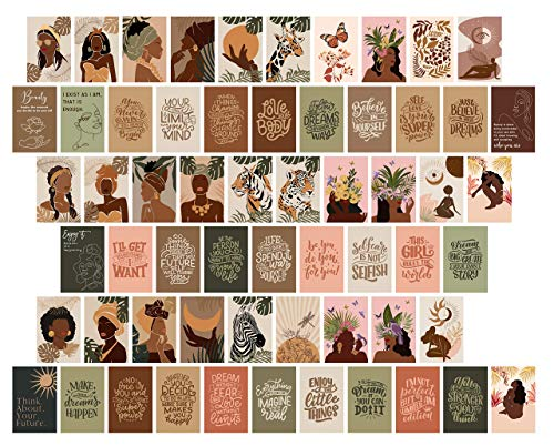 House & Cubby Photo Wall Collage Kit for Wall Aesthetic - Perfect Photo Collage Kit to Create Your own Aesthetic Wall Collage. Trendy Room Décor for Girls. 60 Prints 6x4 inch Set. Made in The USA