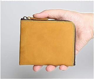 ZGQA-GQA European and American Handmade Men's Leather Wallet Brusque Retro Unbalanced Horse Leather Wallet