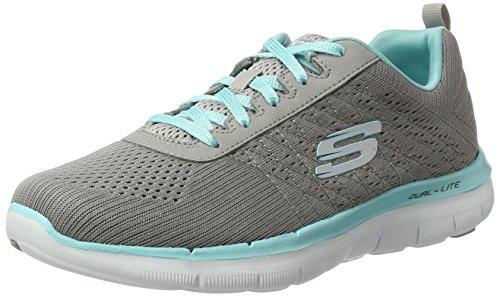 Skechers Flex Appeal 2.0 Break Free, Zapatillas de Deporte para Mujer, 36.5 EU, Gris (Gylb)