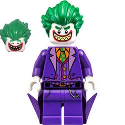 The LEGO Batman Movie The Joker Minifigure (con Coattails y cabeza reversible) cabeza