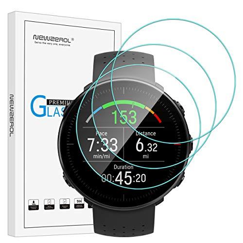 NEWZEROL 3 Pcs Compatible para Polar Vantage M Película Protectora, Vidrio Templado Protector de Pantalla de Alta definición Protector de Pantalla Clear-Clear Clear de Scratch-Free