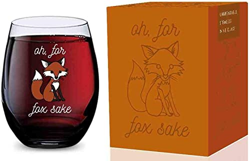 wholesale Stemless Wine Glass (Oh For new arrival Fox Sake) Made of Unbreakable Tritan Plastic and popular Dishwasher Safe - 16 ounces online sale