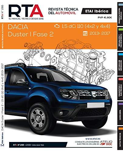 MANUAL DE TALLER y MECANICA PARA DACIA DUSTER I FASE 2 1.5 DCi 4x2 y 4x4 2013-17 R285