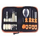 Kit per intaglio di zucca Strumenti Halloween, Kit per intaglio di zucca per adulti e bambini con strumenti per scolpire dettagli professionali