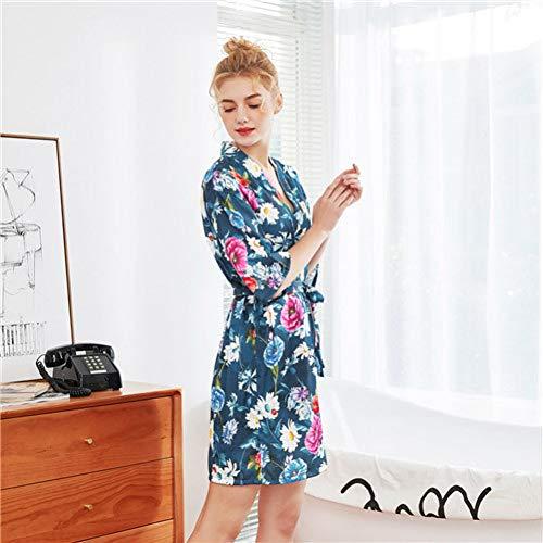 ISKER Ladies' Pajamas Fashion Women's Satin Pajamas Ladies Print Pajamas Short-Sleeved Nightdress Casual Home Underwear Pajamas 2019 New