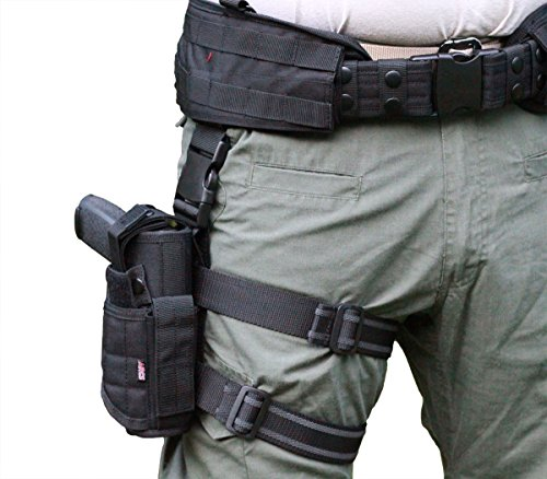 ARCS Tactical Battle Belt Leg Holster Use as Combat, Duty or Open Carry Holster. for Glocks, Smith & Wesson, Sig Sauer & Most Handguns.-Economical Pistol Holsters