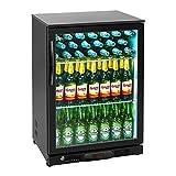 Royal Catering RCGK-138C Minibar Kühlschrank Getränkekühlschrank Flaschenkühlschrank mit Glastür