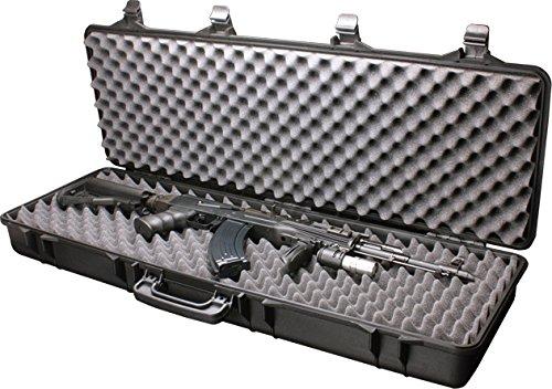 A&N SRC Airsoft Rifle Gun Foam Padded Plastic Carrying Gun Case Black
