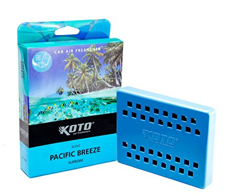 Best Buy! Koto Double Supreme Car Air Freshener Pacific Breeze Scent, Last Up To 60 Days, Slim Tray ...