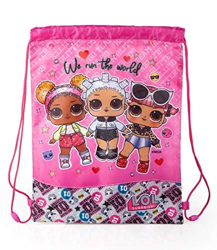 J. M. Inacio, Lda LOL Surprise, sacca da ginnastica, piccola, 43 x 33 cm, borsa per scarpe per bambini e ragazze