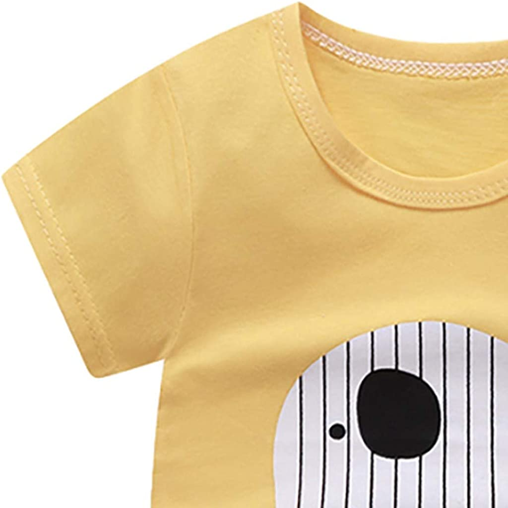 jieGorge Boys Outfits/&Set Toddler Child Baby Boys Girls Short Sleeve Cartoon Tops Shirt+Pants Outfits Set Clothes for Boys and Girls