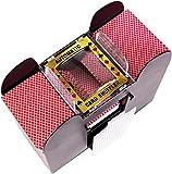lundeng Battery Operated Automatic Card Shuffler, 2,4 or 6 Deck Card Shuffler Card Games, Poker, Rummy, Blackjack (6-Deck shuffler)