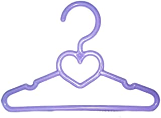 Brittany's My 5.5 Inch Wide Lavender Heart Hangers Compatible with American Girl Dolls and Wellie Wisher Dolls- Doll Clothes Hangers