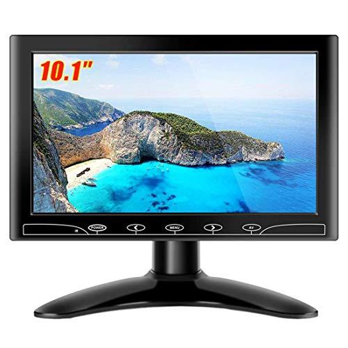 TopRui 10.1 Pulgadas LED Full HD Monitor con Entrada de HDMI/Audio/VGA/AV Función y Altavoz Control Remoto Toque el botón (10.1 Inch 1024x600)