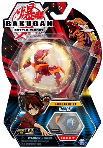 Bakugan Ultra, Pyrus Kelion, 3-inch Tall Collectible Transforming Creature, Wave 7, for Ages 6 and Up,