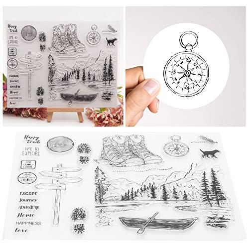 TPR doorzichtige stempels, multifunctionele stempels, stempelsets voor het maken van kaarten, voor het maken van fotoalbums, agendas, wenskaarten, uitnodigingen, enveloppen Rechthoekige