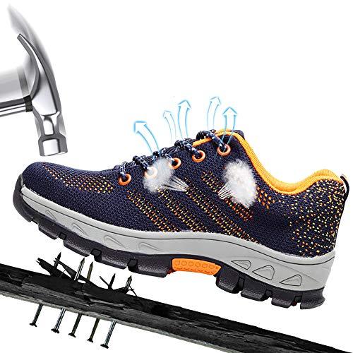 Heren lichtgewicht S3 veiligheidsschoenen werkschoenen sportief met stalen neus luchtdoorlatend sneaker anti-smashing sneaker hiking schoenen beschermschoenen