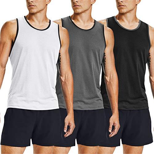 COOFANDY Camisetas sin Mangas de Entrenamiento para Hombre, Paquete de 3 Camisetas de Gimnasio