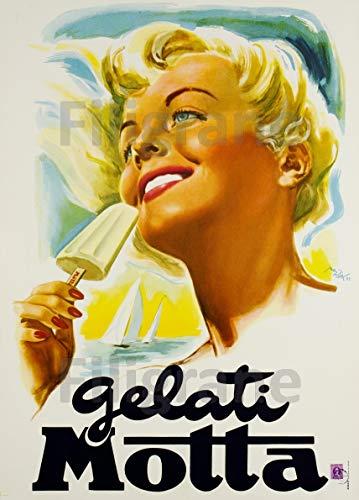 PostersAndCo TM Gelati Motta ijs rip-poster/reproductie, 60 x 80 cm, d1 poster vintage