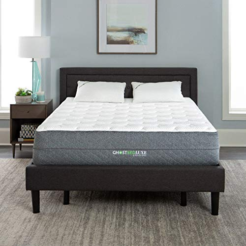 GhostBed Luxe Mattress-Queen 13 Inch-The Coolest Mattress in the World-Proprietary Ghost Ice Fabric and Ghost Bouncer Layer-Mattress in a Box-Made in the USA–Industry Leading 25 Year Warranty