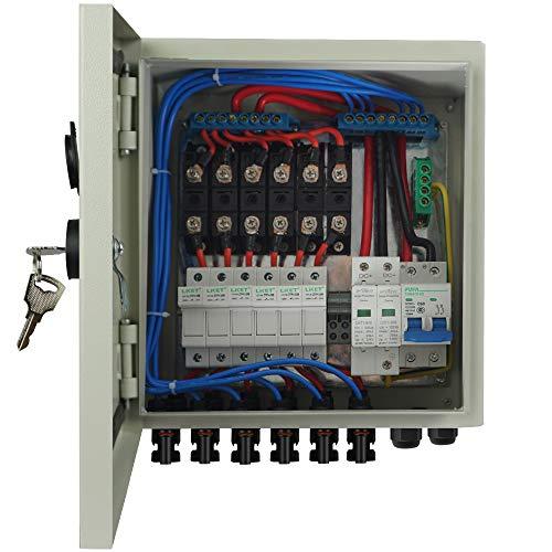 ECO-WORTHY 6-String-PV-Kombinierer, Anschlussdose und 63-A-Leistungsschalter für Solarmodule
