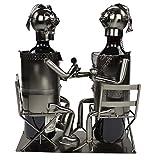 Decoline Metall Flaschenhalter Paar sitzend