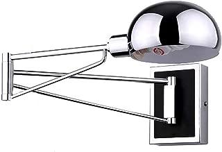 GQNLY Lámpara de Pared Plegable con Brazo articulado, lámpara de Pared con Espejo Cromado Ajustable Aplique de Pared E27 Iluminación de Pared de Loft rústico para Restaurante Salón Dormitorio