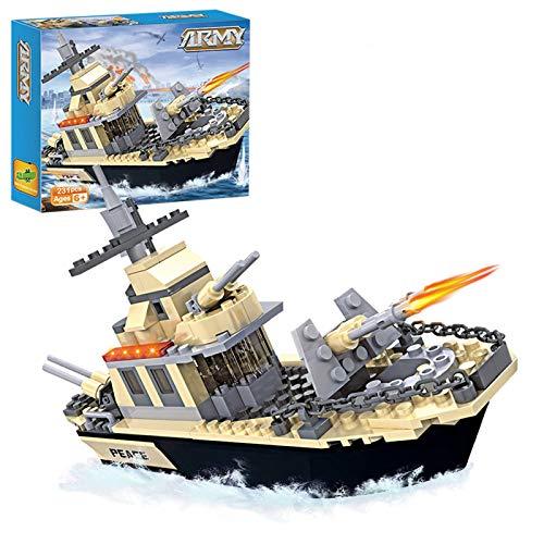 Military Coast Guard Battleship Building Toy Navy Warship Boat Building Blocks for Kids Aged 6-12 (231pcs)
