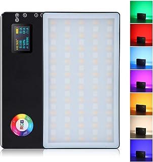 Litufoto RGB LED ビデオライト 撮影ライト 自撮りライト PSE認証済 360°フルカラー 二色3200K-7500K CRI 96+ 無段階調光 4040mah充電式バッテリー 9モード照明効果 コンパクト 自撮り 撮影 生配...