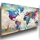 DIY Diamond Painting Full Drill Completo Kit tamaño grande Mapa del mundo de color 45x120cm Diamante Arte Bordado 5D DIY Pintura de Diamante punto de cruz Mosaico Imagen Regalo Decoracion Pared